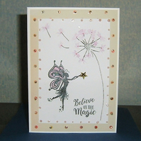 fantasy fairy greetings card (ref 942)