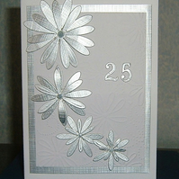 Silver wedding anniversary card (ref 955)
