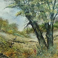 watercolour landscape painting (ref 970)