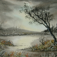 Watercolour landscape art painting (ref 988)
