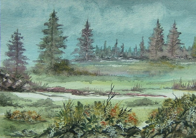 watercolour landscape painting (ref 004)
