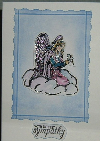 Angel Sympathy card (ref 024)
