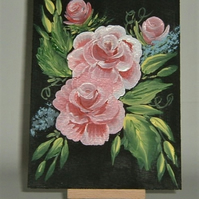 Acrylic rose art painting (ref F394)