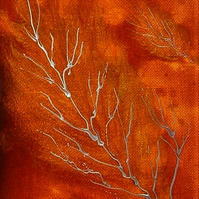 acrylic tree branch painting (ref f410)