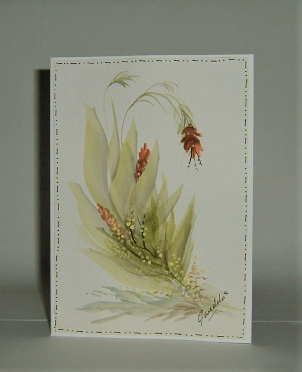 original hand painted all occasion greetings card (ref F419)