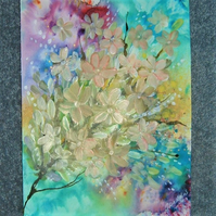 original art acrylic floral painting ( ref F 426)