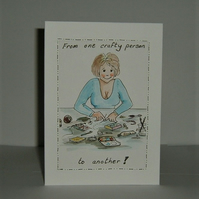 crafter's greetings card (ref F430)