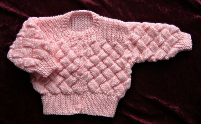 baby knitted jacket (ref f 474)