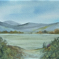 watercolour landscape art painting 8x6 (ref F 482)