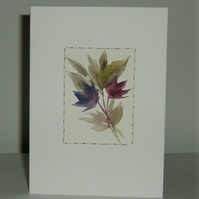 hand painted all occasions greetings card (ref F498)