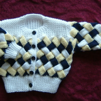 hand knitted baby cardigan ( ref F 499)