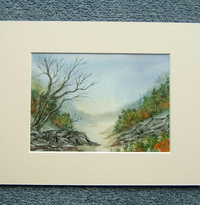 watercolour painting art landscape ( ref F 503)