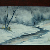 art painting watercolour landscape ( ref f 507)