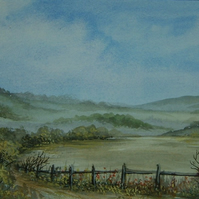 watercolour landscape art painting ( ref f 508)