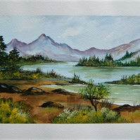 watercolour landscape painting art ( ref F 513)