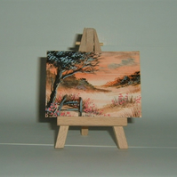 aceo miniature watercolour painting. (ref F275)