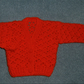 red lacy crochet baby cardigan (ref f290112)