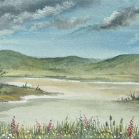 watercolour art landscape painting (ref F331)