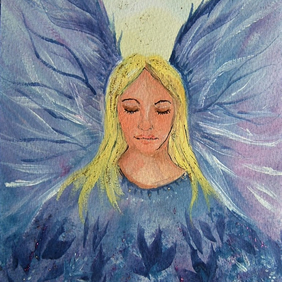Angel original art painting ( ref F 724)