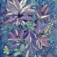 Floral acrylic art painting original ( ref F 734)