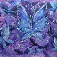 original art butterfly painting ( ref F 829)