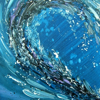 "original art abstract ""Wave"" painting ( ref F 841)"