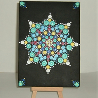 Acrylic Dot Mandala painting original art ( ref F 907)