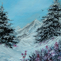 Original art snowscene painting ( ref F 925)