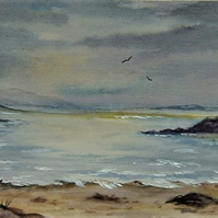 Original art watercolour landscape painting ( ref F 653)