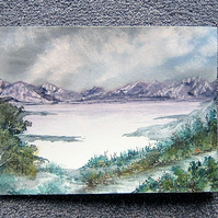 Original art painting landscape ( ref F708)