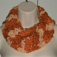 crocheted infinity scarf  ( ref  f 944)