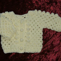 new baby crochet bobble cardigan ( ref F 979)
