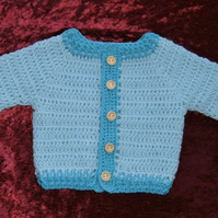 SALE ITEM...button up  baby's crochet cardigan ( ref f106)
