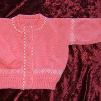 baby knitted button up cardigan ( ref F 117)