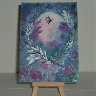 original art purple fantasy painting ( Ref f 130)