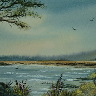 original art landscape painting ( ref F 133)