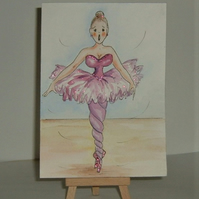 original art cartoon ballerina ( ref f 141)