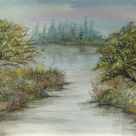 original art landscape watercolour painting ( ref f 143)