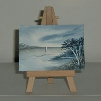 original art aceo seascape painting ( ref F 156)