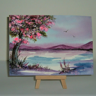 original art landscape painting ( ref F 159)