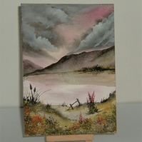 original art landscape watercolour painting. ( ref F 161)