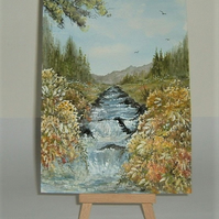 original art landscape paintings ( ref F 163)