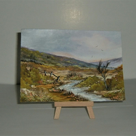 original art landscape painting ( ref F 168)