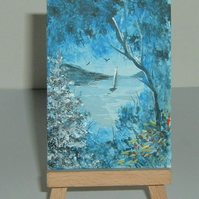 original art landscape painting ( ref F 167)