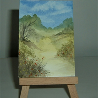 original art landscape painting ( ref F 185)