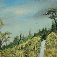 original art watercolour landscape painting ( ref F 191)