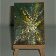 original art abstract aceo painting ( ref F 196)