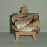 aceo miniature art painting ( ref F 199)