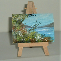 aceo miniature art painting ( ref F 204)