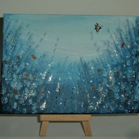 original art fantasy garden glitter paintingn ( ref F 210)